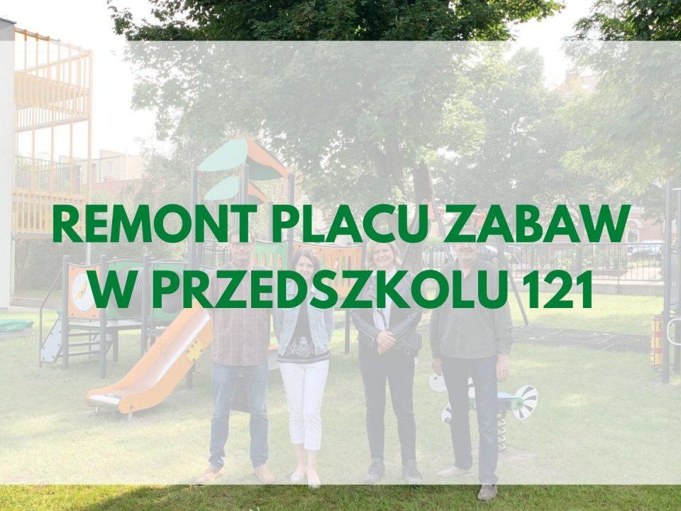 REMONT PLAcu zabaw w przedszkolu 121